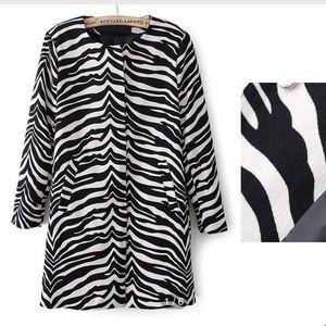 GOODNIGHT MACAROON Zebra Print blazer